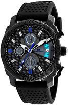 Oceanaut Kryptonite Mens Gray & Black Rubber Strap Watch