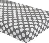Not a Peep Crib Fitted Sheet (Grey w/White Dot)