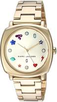 Marc Jacobs Women's 'Mandy' Quartz Stainless Steel Casual Watch, Color: Gold-Toned (Model: MJ3549)