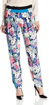 Rebecca Minkoff Women's Drift Floral Printed Crepe Pant