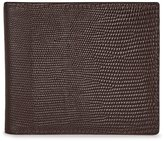 Reiss Reiss Mister Print - Leather Billfold Wallet In Brown, Mens