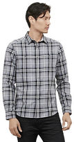 Kenneth Cole Heather Plaid Button Front Shirt