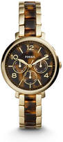 Fossil Jacqueline Multifunction Gold-Tone Stainless Steel and Acetate Watch