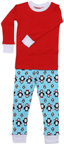 New Jammies Red Poised Penguins Organic Pajama Set - Infant Toddler & Boys