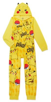Pokemon Boys Exclusive Hooded Pajama Blanket Sleeper Sizes 4-16