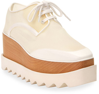 Stella McCartney Sneak Elyse Mesh Platform Oxfords