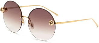 For Art's Sake Knoty' round gold-toned metal frame sunglasses