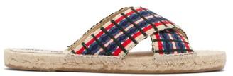 Guanabana - Woven Cross-over Espadrilles Sandals - Multi