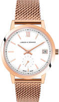 Larsson & Jennings Saxon rose gold-plated stainless steel watch