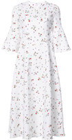 Carven floral print midi dress - women - Cotton/Acetate/Silk - 36