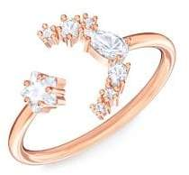 Swarovski x Penelope Cruz Moonsun Rose Goldtone & Crystal Open Ring