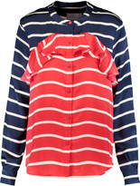 Preen by Thornton Bregazzi Striped silk-satin blouse