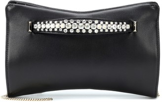 Jimmy Choo Venus embellished leather clutch