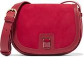 Vanessa Seward Dylan Leather And Suede Shoulder Bag - Red