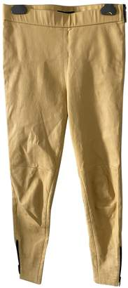 Louis Vuitton Yellow Leather Trousers for Women