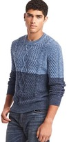 Gap Colorblock cable knit sweater