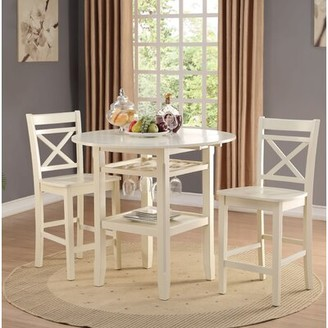 Rosecliff Heights Oswald Counter Height Drop Leaf Dining Table Color: White
