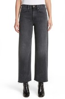 Simon Miller Women's Tilson Crop Frayed Wide Leg Jeans