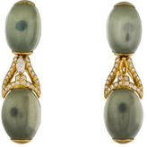 Henry Dunay 18K Moonstone & Diamond Drop Earrings