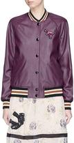 Coach Rexy patch lambskin leather varsity jacket