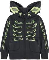 Stella McCartney Phosphorescent bandit print organic cotton sweatshirt