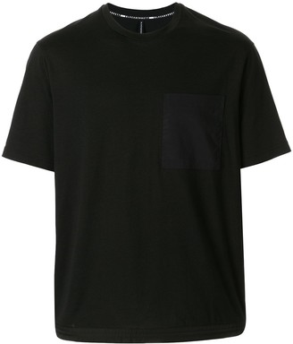 Blackbarrett drawstring hem T-shirt