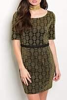 Shop The Trends Black Gold Dress