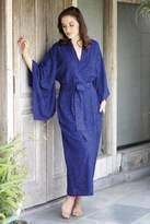 Kimono of Blue-Violet Orchids