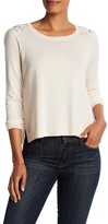 Joie Frazier Back Lace Sweater