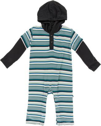 Kickee Pants Stripe Hooded Romper