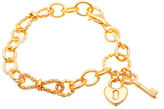 Lord & Taylor Goldtone Lock and Key Charms Bracelet