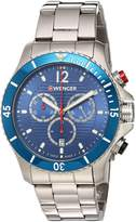 Wenger Men's 'Seaforce Chrono' Swiss Quartz Stainless Steel Casual Watch, Color:Silver-Toned (Model: 01.0643.111)