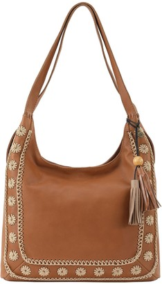The Sak Huntely Leather and Crochet Hobo Handbag