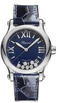Chopard Happy Sport Diamond, Stainless Steel & Leather Strap Watch