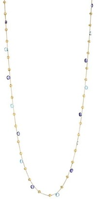 Marco Bicego Paradise Blue 18K Yellow Gold, Blue Topaz & Iolite Long Station Necklace
