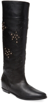 Aperlaï Women's Studded Leather Bootie