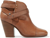 Rag & Bone Harrow Shearling-lined Leather Ankle Boots - Tan