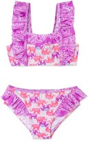 Hula Star Girl's Print Two-Piece Swimsuit