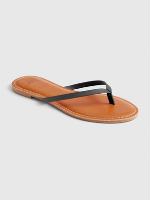 Gap Faux Leather Flip Flops