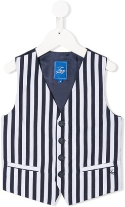 Fay Kids fitted striped waistcoat