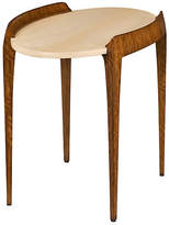 "Theodore Alexander Suspend 29"" Oval Side Table - Brown/Cream"