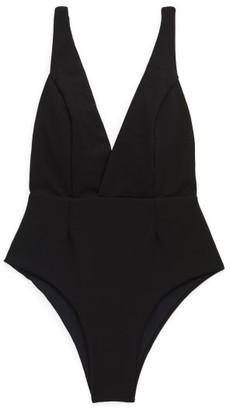 Haight Fernanda V-neck Crepe Swimsuit - Black