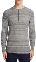 Billy Reid Textured Stripe Henley Sweater