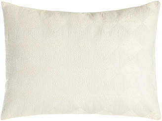 "Vera Wang Sti Thread Counthed Concentric Squares Pillow, 12"" x 16"""