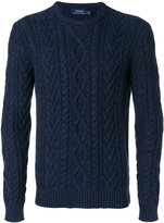 Polo Ralph Lauren crew neck cable knit jumper - men - Cotton/Cashmere - S