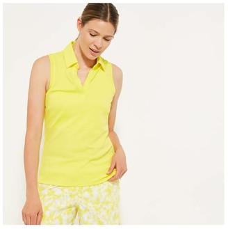 Joe Fresh Women's Active Polo Tank, Yellow (Size M)