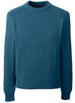 Lands' End Men's Tall Drifter Cotton Crewneck Sweater-Sweet Persimmon