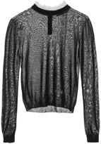 Philosophy di Lorenzo Serafini Lace Collar Sheer Sweater