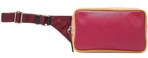 Marni Color-block Leather And Shell Belt Bag