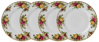 Royal Albert Old Country Roses 4-Piece Plate Set (20Cm)